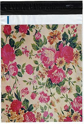 100 10x13 Roses Designer Poly Mailers Envelopes Boutique Custom Bags