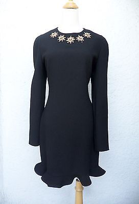 2013 ALEXANDER MCQUEEN GLORY EMBELLISHED FLOUNCE DRESS! SO CHIC!