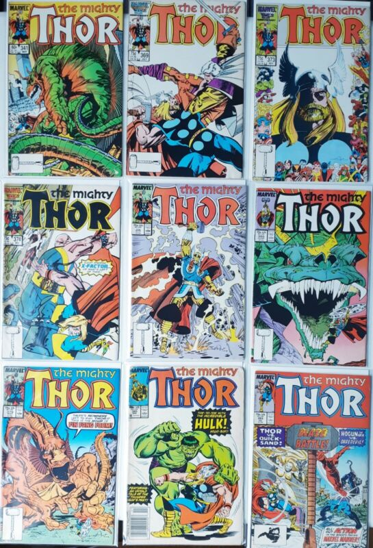 The mighty thor comic lot 341 369 373 374 378 380 379 385 393