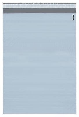 Plymor Poly Mailer Whitegray Bag W Closure Strip 14.5 X 19 Pack Of 250