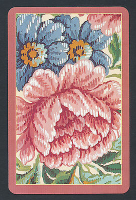 flowers floral playing card single swap ace of diamonds - 1 card