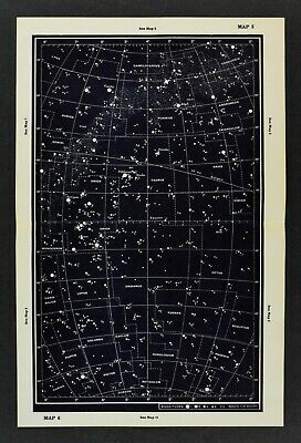 1961 Gall & Inglis Star Map Equator Ecliptic Auriga Capella Perseus Orion Taurus