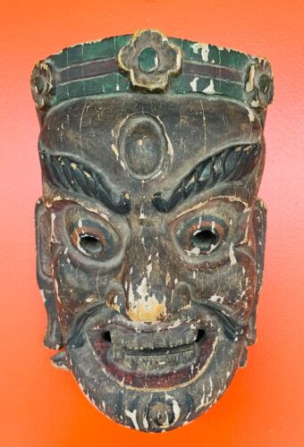 Ancient Chinese Wood Mask