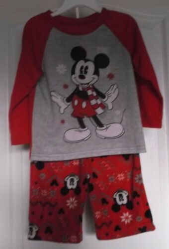 MICKEY MOUSE TODDLER UNISEX CHRISTMAS PJs - SIZE 3T - NWT