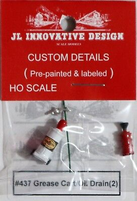 JL Innovative HO/HOn3 Custom Grease Cart & Oil Drain Tank (437)