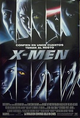 X-Men Original D/S Int'l Spanish One Sheet Rolled Movie Poster 27x40 NEW 2000