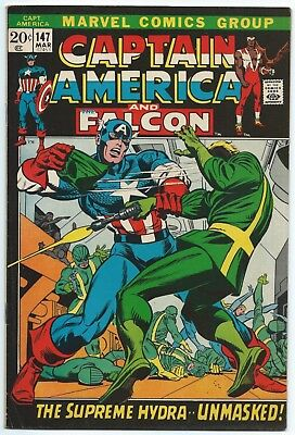 CAPTAIN AMERICA #147 March 1972 FN/VF 7.0 OW MARVEL Picture Frame Gil KANE Cover