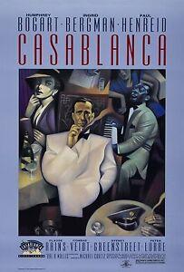 CASABLANCA-Movie-Poster-RARE-Version-1942-Hollywood-Classic-Humphrey-Bogart