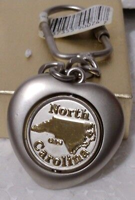 NEW North Carolina State Bird Cardinal Silver & Gold Key Chain