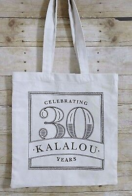 "Kalalou Home Decor Tote Celebrating 30 Years Beige Two Strap 15"" X 14"""