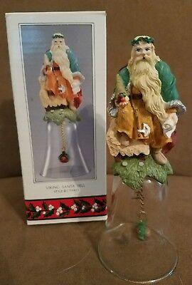 Novelino Christmas Thru the Ages Viking Santa Bell #CTA401