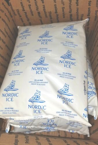 GEL COLD ICE PACKS (lot of 4) for Shipping, Camping, cooler, Lunch - reusable