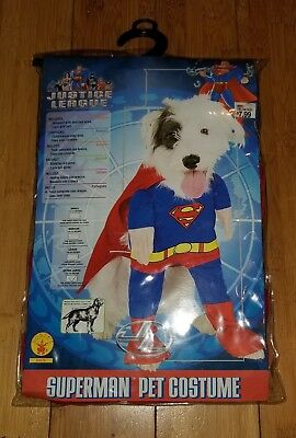 Superman Dog Costume Medium Jumpsuit w/ Arms Cape w/ Belt Free Shipping - Superman Dog Kostüm Medium