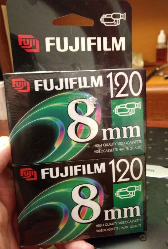 Fujifilm 120 Minute 8mm Videocassette P6-120 High Quality 2 Pack