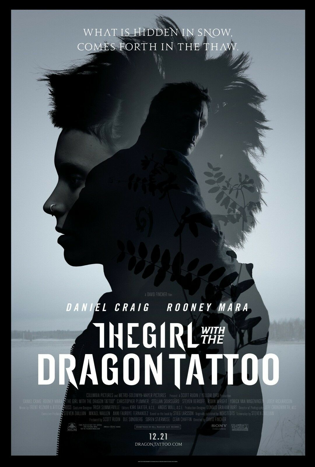 Girl With The Dragon Tattoo Classic Large Movie Poster Art Print A0 A1 A2 A3 A4