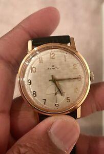 Zenith watch men's linen dial rare cal 2531 watch
