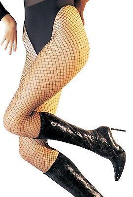 Schwarz Schwer Nylon Fischnetz Strumpfband Strümpfe Kostüm - Fischnetz Strumpf Kostüm