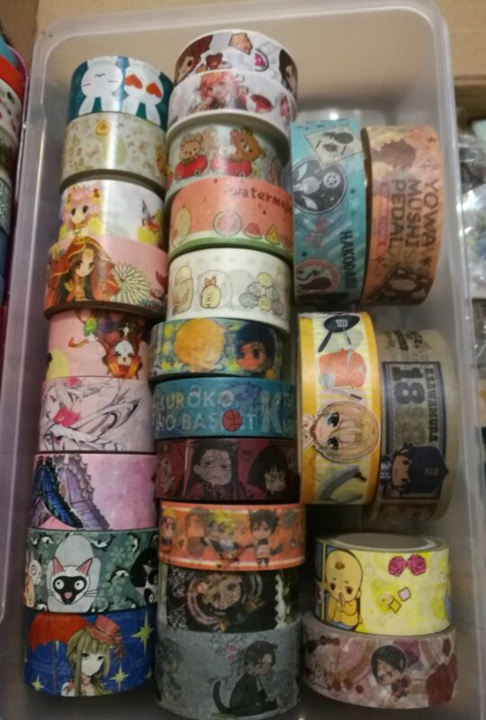 Beautiful Kawaii boy girl anime manga fashion washi tape samples