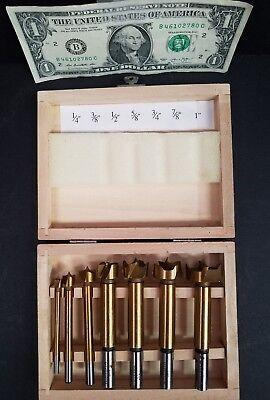 Drill Master 01903 7pc Titanium 14 To 1 Forstner Woodboring Drill Bit Unused