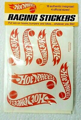 VINTAGE MATTEL HOT WHEELS RACING STICKERS 1969 UNOPENED