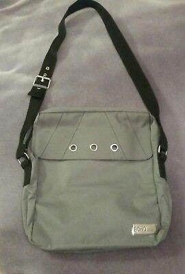 Stylish Unisex Echo by Davidoff Gray Messenger Bag Large Tote Adjustable Strap