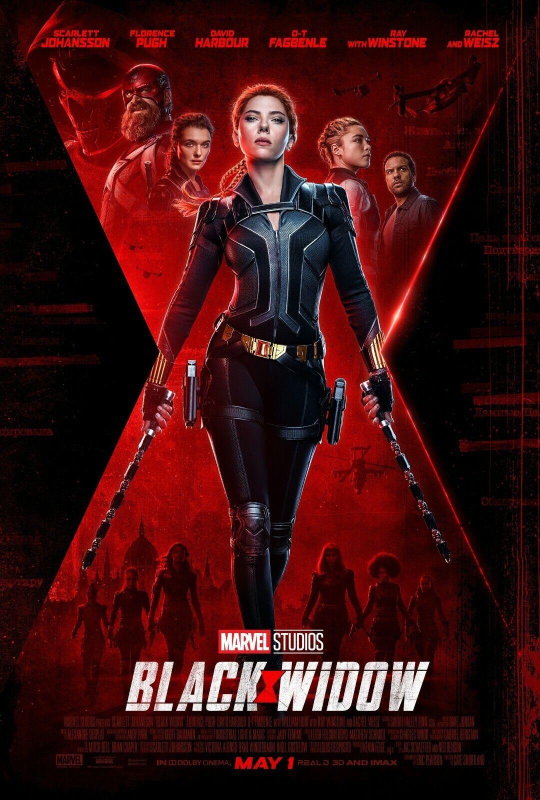 Black Widow movie poster (d)  - 11 x 17 -  Scarlett Johansson