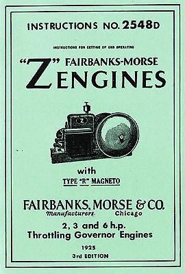 Fairbanks Morse Z Gas Engine R Magneto 2 3 6hp Hit Miss 2548D Motor Book Manual