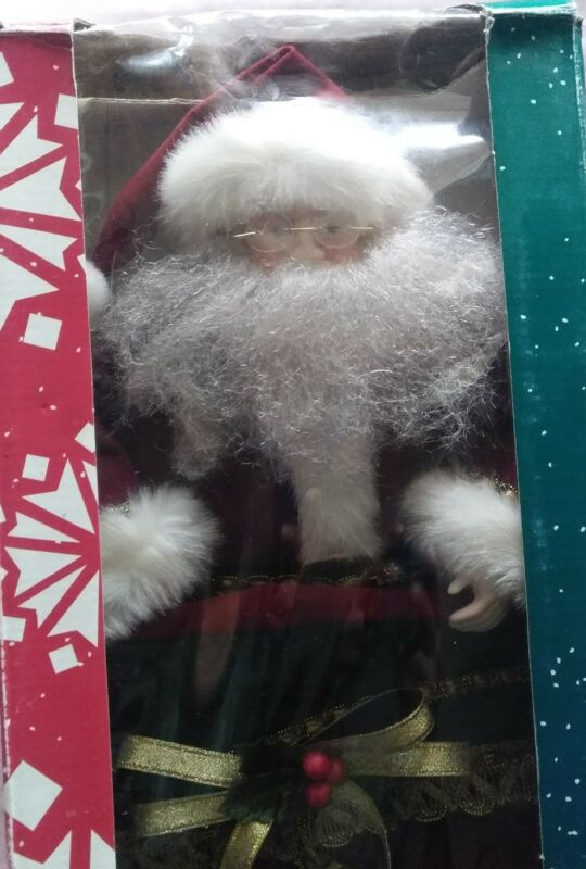 "Large Santa Stocking by Traditions NIB 25"""