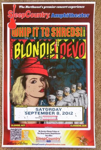 BLONDIE & DEVO 2012 Gig POSTER Ridgefield Washington Concert