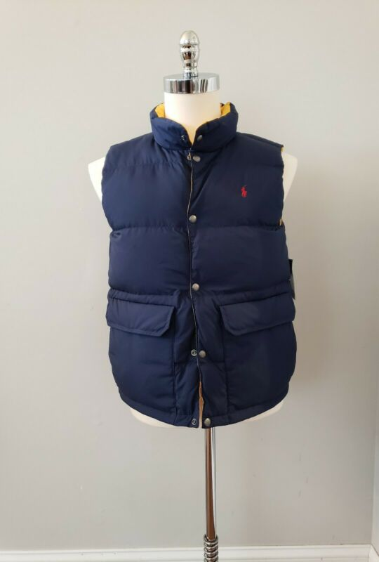 NWT Polo Ralph Lauren  BOYS REVERSIBLE DOWN/WATERFOW VEST L(14/16) XL(18/20) #Q