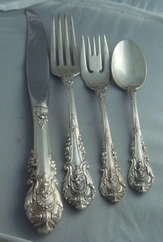 # Wallace Sir Christopher Sterling Silver DINNER SIZE Four ( 4 ) Piece Setting