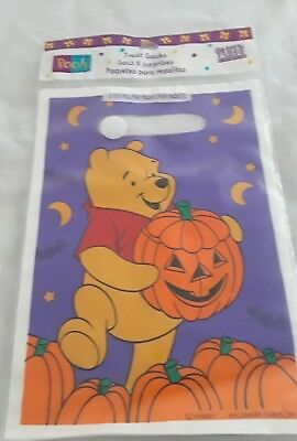 Disney Winnie The Pooh Halloween 8 Treat Party Favor Sacks Bags Hallmark Party - Disney Halloween Party Decorations