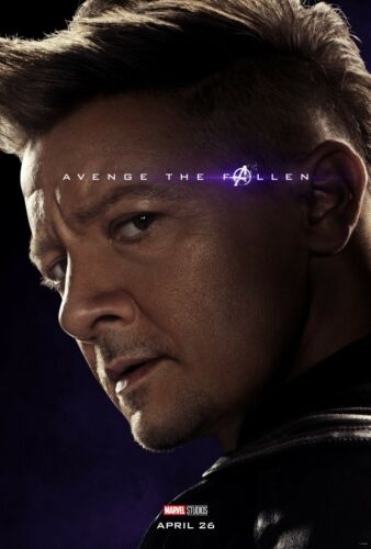 Avengers Endgame movie poster  - 11 x 17 inches - Hawkeye poster, Jeremy Renner