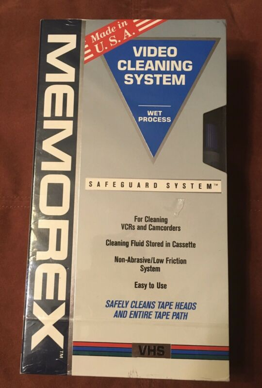 Memorex VHS Video Cleaning System Wet Process NOS Sealed