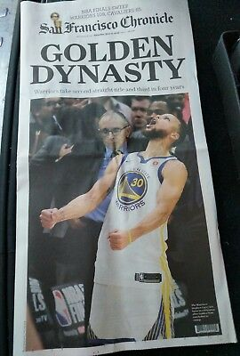 Sf Chronicle Newspaper 2018 Golden State Warriors Nba Champs 6 9 18 Dynasty Full