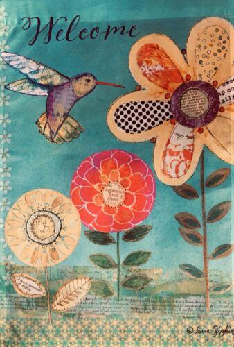 HUMMINGBIRD GARDEN GARDEN Flag
