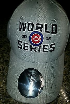 NWT NEW ERA CHICAGO CUBS 2016 WORLD SERIES HAT 9 FORTY GRAY