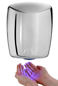CHROME HAND DRYER FAST ELECTRIC AUTOMATIC WARM AIR DRIER AIR FORCE COMMERCIAL