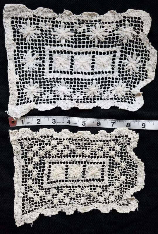 A20 Vintage Darned Net Flower Arm Rest Doily Doilies Home Decor Chic Shabby