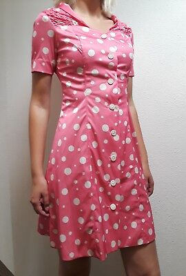 Vintage funky dress 70s pink polka dots MINNIE / MOUSE COSTUME ANYONE? HALLOWEEN](Vintage Halloween Costumes 70s)
