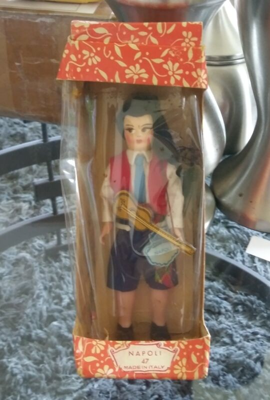 L@@K !!! Vintage old PEPINO  NAPOLI DOLL  # 47. Made in italy.HARD TO GET !!!