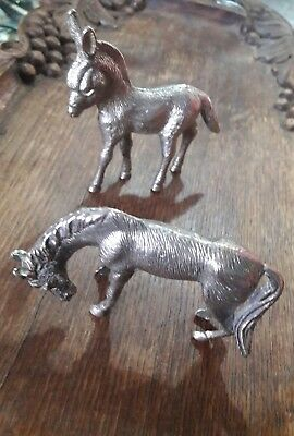 Antique vintage horse donkey collectors item silver plated?