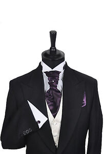 Mens-Boys-Wedding-Formal-Cravat-In-Shades-of-Purple
