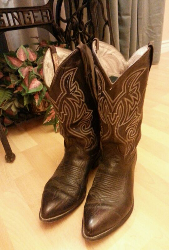 Cowtown, Brown, Distressed, Leather, Cowboy, Western, Boots, Men, Size, 11, Very, Nice, L@@K