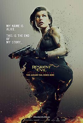 Resident Evil The Final Chapter Movie Poster  24X36    Milla Jovovich V2