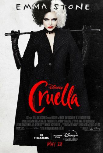 Cruella Movie Poster (24x36) - Emma Stone, Mark Strong, Emma Thompson v1