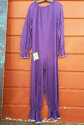 purple clown costume bodysuit large petite shorty muscle clown burners fun vntg