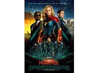 Captain Marvel Movie Poster - Brie Larson Carol Danvers Mar-Vell v18 24x36