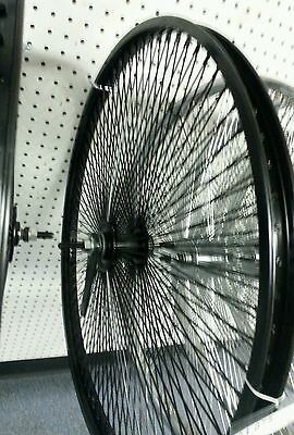 "LOW RIDER LOWRIDER BIKE bicycle 26/"" Fan 144 Spoke Front Wheel 14G Chrome"