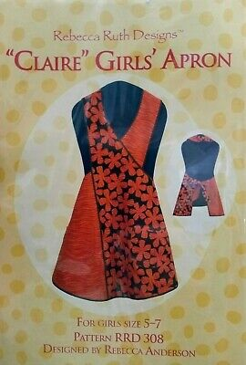"""REBECCA RUTH DESIGNS """"Claire"""" girls' APRON RRD308 Sewing Pattern size 5-7"""